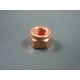 Nut M8 SW12 self-locking, copper-plated