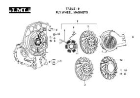 TABLE - 9      FLYWHEEL MAGNETO