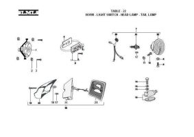 TABLE - 22     HORN - LIGHT SWITCH - HEAD LAMP - TAIL LAMP