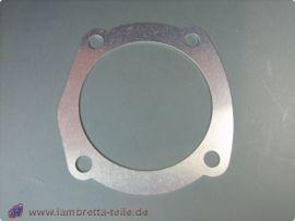 Cylinder head gasket alloy 70.5 1.0mm Lambretta Li1, Li2, Li3, LiS, SX, TV, GP/dl