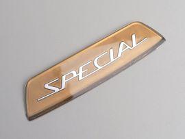 """Schild unter Sitzbank Golden """"Special"""" Lambretta"""