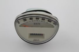 Tachometer 120 km/h weiß Vespa Vespa PV, Sprint Veloce, Rally, Super, GTR, TS