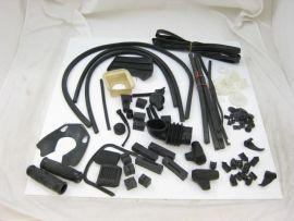 Rubber kit complete black Lambretta GP