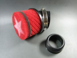 Air filter Stage6 small CW=44mm (Mikuni) red
