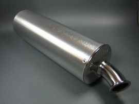 Silencer PM alloy curved end