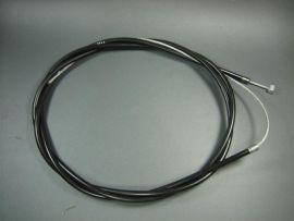 "Clutch or brake cable f. complete ""LTH"" teflon black with braided cable  Lambretta & Vespa"