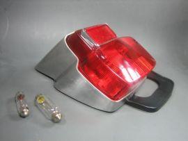 """Rear light """"BGM"""" vintage small metal with black rubber gasket Vespa V50, PV, Sprint"""