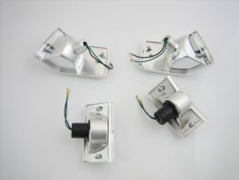 Blinkerset clear with chrome housing Vespa PX