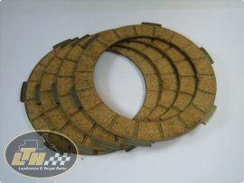 """clutch plates """"Surflex"""" (4 plates)  Lambretta Li1, Li2, Li3, LiS, SX, TV, GP/dl"""