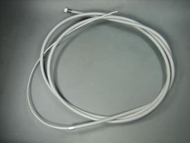 """Clutch and front brake cable complete with plastic insert grey with braided cable """"LTH"""" Vespa & Lambretta"""