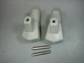 Ständerfüße incl. Splint grau (ital.) (Paar) Lambretta