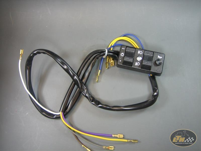 Lichtschalter 9 Kabel 12V mit Blinker ohne Batterie Vespa PX ...