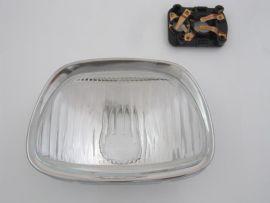 Scheinwerfer Trapez Glas incl. Zierring Vespa Sprint, GL