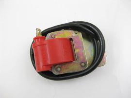 Zündspule rot incl. Halteblech Vespa V50, PV, Sprint