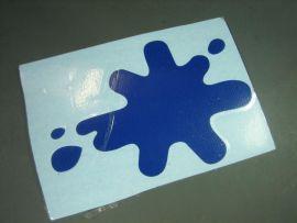 Aufkleber Tintenklecks blau Lambretta GP/dl