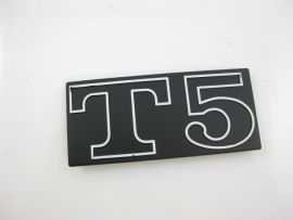 Badge T5, black/aluminium Vespa T5