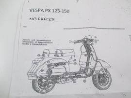 Wiring loom without blinkers without battery Vespa PX125 ... on vespa sprint, vespa gts 125, vespa lx50, vespa p200e, vespa t5, vespa super, vespa px150,
