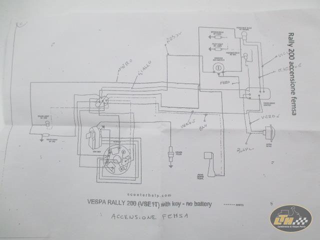 wiring loom with femsa ignition vespa rally 200 lambretta teile rh lambretta teile de