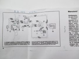 Wiring loom without blinkers Vespa PK125
