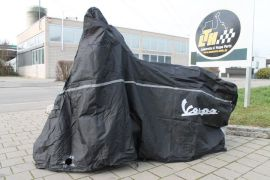 Rain cover Garage Piaggio with Vespa badge seize XL Vespa GTS