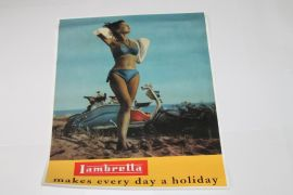 Poster Lambretta makes every day a holiday 49x38cm
