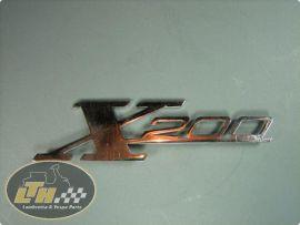 """Emblem Beinschild """"X200"""""""