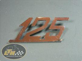 """Emblem legshield """"125"""" Lambretta"""