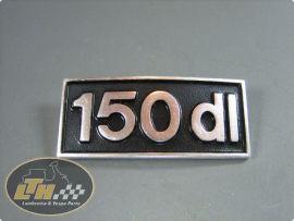 """Emblem Beinschild """"150dl"""" Lambretta"""